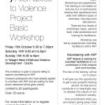 Workshop in the Community 13th-15th October